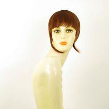 frange à clips peruk cheveux châtain doré cuivré ref: 20 en 30