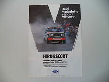 advertising Pubblicità 1980 FORD ESCORT GR1 RALLY PRESOTTO/SGHEDONI