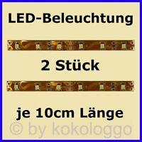 S332 - 2 Stück LED Hausbeleuchtung á 10cm WARMWEIß Modell Beleuchtung Häuser
