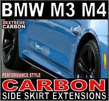 BMW M3 & M4 Performance Style Carbon Side Skirt Extensions set Skirts F80 F82