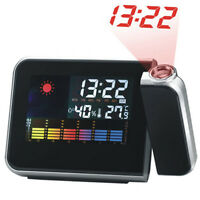 Digital Weather LCD Projection Snooze Alarm Clock with Colorful LED Backlight YK