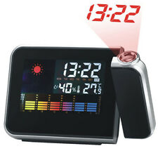 Digital Weather LCD Projection Snooze Alarm CCCck with CoCCrful LED Backlight YT