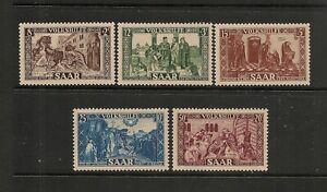 Germany SAAR 1950 Set of 5 Mint Hinged