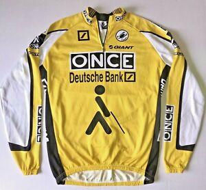 CASTELLI MEN'S XXL bike cycling ONCE Deutsch Bank JERSEY FULL ZIP jacket 2X