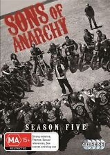 Sons of Anarchy - Season 5 (DVD, 4 Disc Set) NEW R4 Series