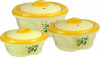 Riona Jumbo Insulated Thermal Food Container Casserole Hot Pot Set 6L / 8L / 13L