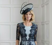 John Charles 26570 Navy Mother of the Bride Wedding Cocktail Formal Hat £450