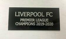 Liverpool 2019-20 Premier League Champions - 110x50 Engraved Plaque Memorabilia