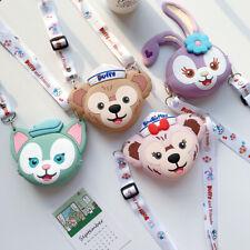 Cute Disney Cartoon Duffy Bear Coin Purse Strap silicone soft Wallet Bag Lanyard