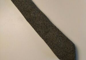 Men's Twillory Wool Blend Gray Tweed Skinny Tie