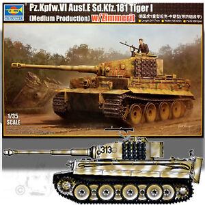 TRUMPETER 1/35 TIGER I (MEDIUM PRODUCTION) W/ZIMMERIT MODEL KIT 05939