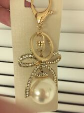 Keychain Perl Bow Design Gold Color New