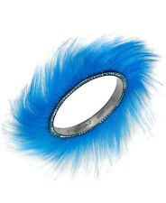Betsey Johnson xox Trolls Faux-Fur Bangle Bracelet – Blue