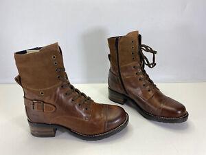 Taos Women's CRV-5514 Crave Leather Combat Ankle Boots Camel EU 37 / US 6 - 6.5