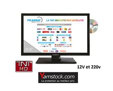 télévision TV HD + DVD 22' + démo satellite FRANSAT camping car 12v / 220 v