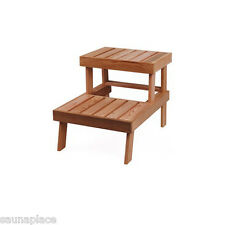 WESTERN RED CEDAR TABLE OR STEP - FOR SAUNA, GARDEN. BEAUTIFUL WOOD GREAT SMELL
