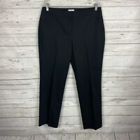 Chico's So Slimming Womens Ankle Pants Size 1 Medium/8 Black Cotton Blend