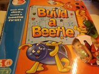 Build a Beetle retro Game SPARES 4+ Years 2-4 Players Chad Valley Family