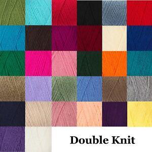 Robin DK Knitting Wool Yarn Double Knit Acrylic Wool 100g Balls 35+ Colours