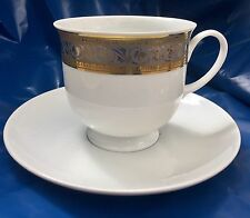 Rosenthal Germany Studio Line Classic Gold Stripe Tea Cup & Saucer Unused