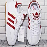 Adidas Originals Samba Super ® Men Trainers | UK Sizes: 8 9 10 11 White Red Gold