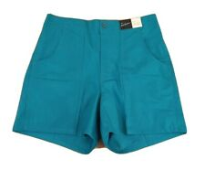 Fast Breakers Vintage Twill Beach Shorts surf skate New Deadstock 34 Turquoise