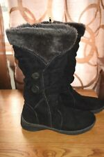 d50da9c5704 Fashion Bug Faux Suede Mid-Calf Faux Fur Zip Boots Sz 8M Black