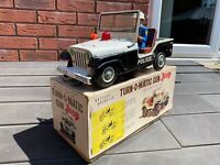 TN Toys Japan Turn O Matic Gun Police Jeep In Its Original Box - Working Rare