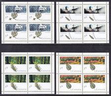 CANADA #1283a-1286b 1990 CANADIAN FORESTS SOUVENIR SHEETS SET/4
