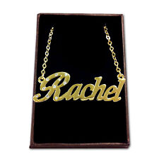 Gold Plated Name Necklace - RACHEL - Gift Ideas For Her - Birthday Accessories
