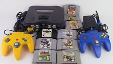 N64 Nintendo 64 Console Bundle Lot 9 Games TESTED WORKING 2 Controllers