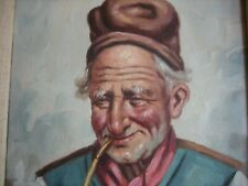 Fine & Unique Portrait of a Man - Signed Oil Painting on Canvas (8 & 10in.)