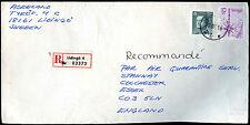 Sweden 1986 Registered Cover To UK #C37818