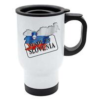 Made In Slovenia Thermal Travel Mug - White Stainless Steel