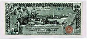 Fr. 224 1896 Silver Certificate. Superb AU