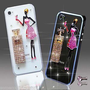 NEW 3D DELUX COOL BLING GIRL PERFUME DIAMANTE CASE COVER 4 VARIOUS MOBILE PHONES