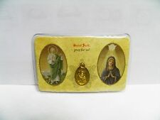 SAINT JUDE & BLESSED MOTHER SEALED CARD WITH MEDAL