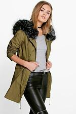 Boohoo Polyester Parkas for Women