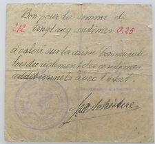 Billet de Necessite Anseroeul 25 centimes 14-18