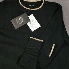 Woman's Black with Gold Trim Sweater Career,Casual Soft Who What Wear -Pick Size