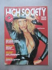 HIGH SOCIETY (D)  6 - 1984   INGRID STEEGER - SIBYLLE RAUCH