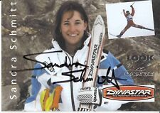 Sandra Schmitt † 2000 ski freestyle autografiada mapa original firmado 371902