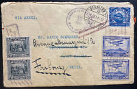 1931 San Miguel El Salvador Airmail Cover To St Gallen Switzerland