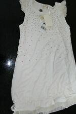 Monnalisa Kleid   Chic ❤️  128 - 140   ❤️  creme Straß NEU