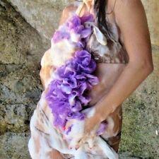 Retractable Luxurious Plus Size Wide Soft Spa Bath Shower Sponge Boa Lavender