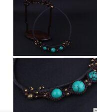 Women's Handmade Ethnic Turquoise Agate Tibetan Necklace Choker Jewellery