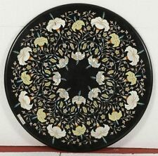 """36"""" Black Marble Beautiful Table Top High Quality Coffee Dining Inlay Home"""