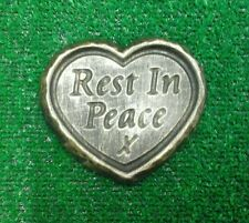 Rest in  peace GRAVE SIDE TRIBUTE GARDEN MEMORIAL HANDMADE NATURAL STONE HEART
