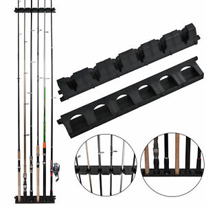 6 Fishing Rods Holder Vertical Rack Fishing Pole Holder Wall Mounted Rods Rack