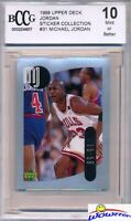 1998 Upper Deck #31 Michael Jordan Sticker BECKETT 10 MINT Bulls HOF